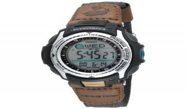 Casio men s pathfinder forester fishing moon phase watch for Casio pathfinder fishing watch