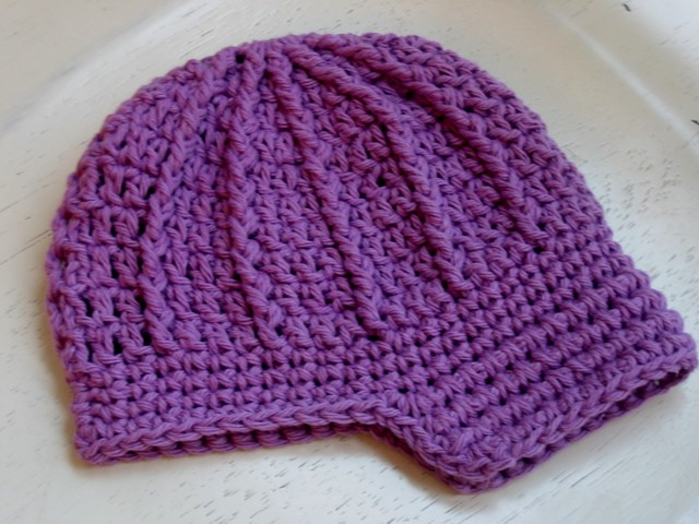 Newsboy Baby Hat Pattern - Purple Newsboy Baby Hat ...