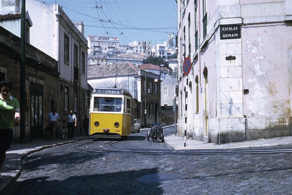 Eléctrico da Graça, Lisboa (J.-H. Manara, 1972)