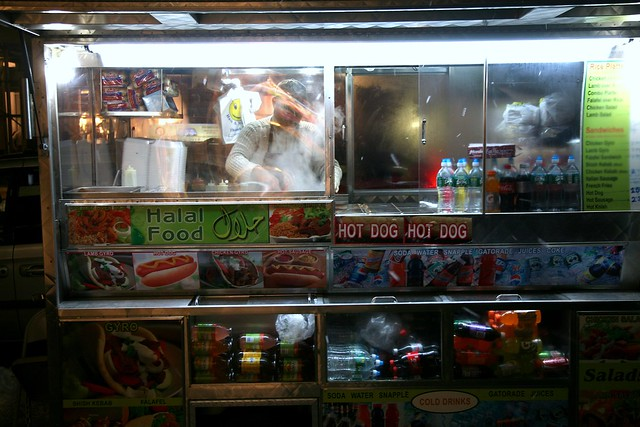 Sabrett New York Hot Dog Cart Onions Mustaurd Krout