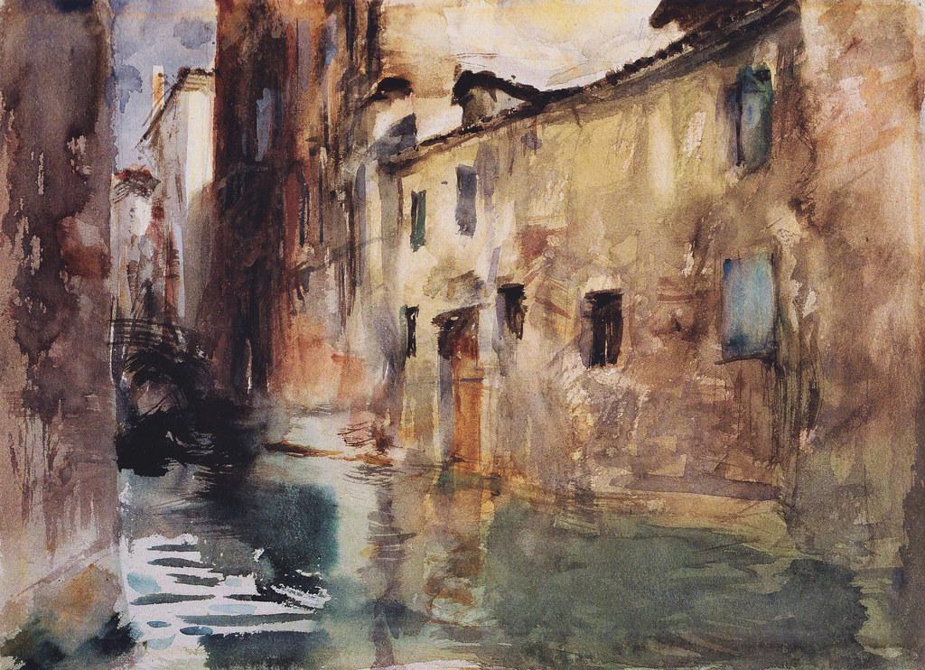 John Singer Sargent Side Canal C 1881 Water Color On