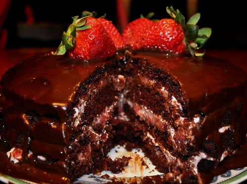 Chocolate Strawberry Cake Roll Recipe