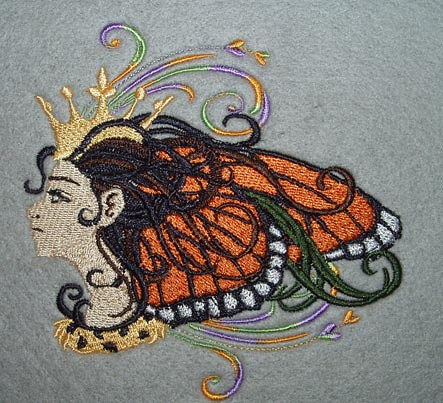 Maiden Monarch Fairy Embroidery Design Flickr Photo