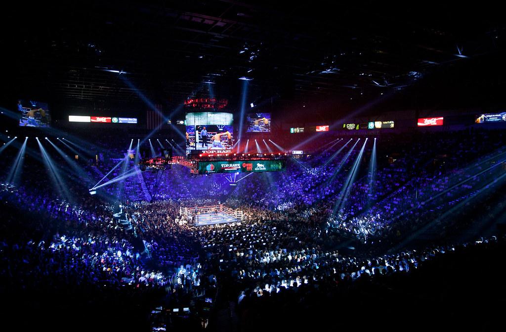 Boxing Ring Las Vegas Lights
