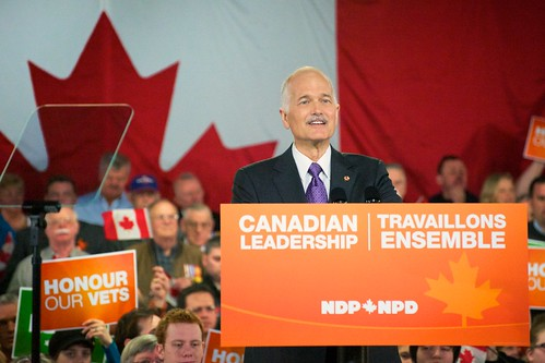 Jack Layton, Leaders Tour - Tournée du Chef - Dartmouth Rally | by mattjiggins
