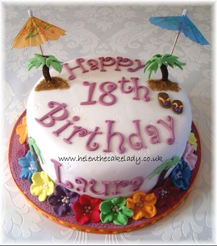 Hawaiian Birthday Cake Images