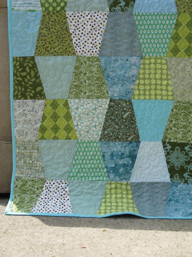 Tumbler block baby quilt for Christina Sabrina Flickr