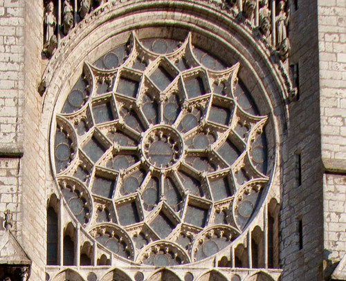 chartres cathedral north rose window flickr photo
