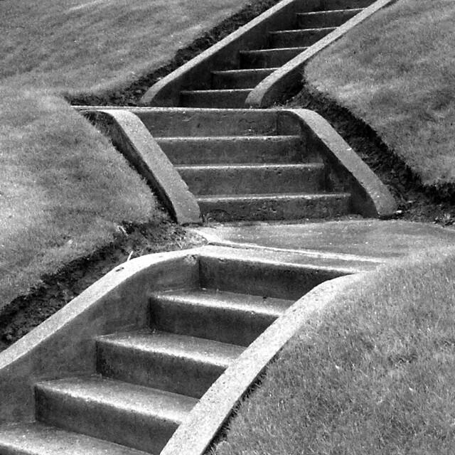 Zig Zag Stairs (B&W)