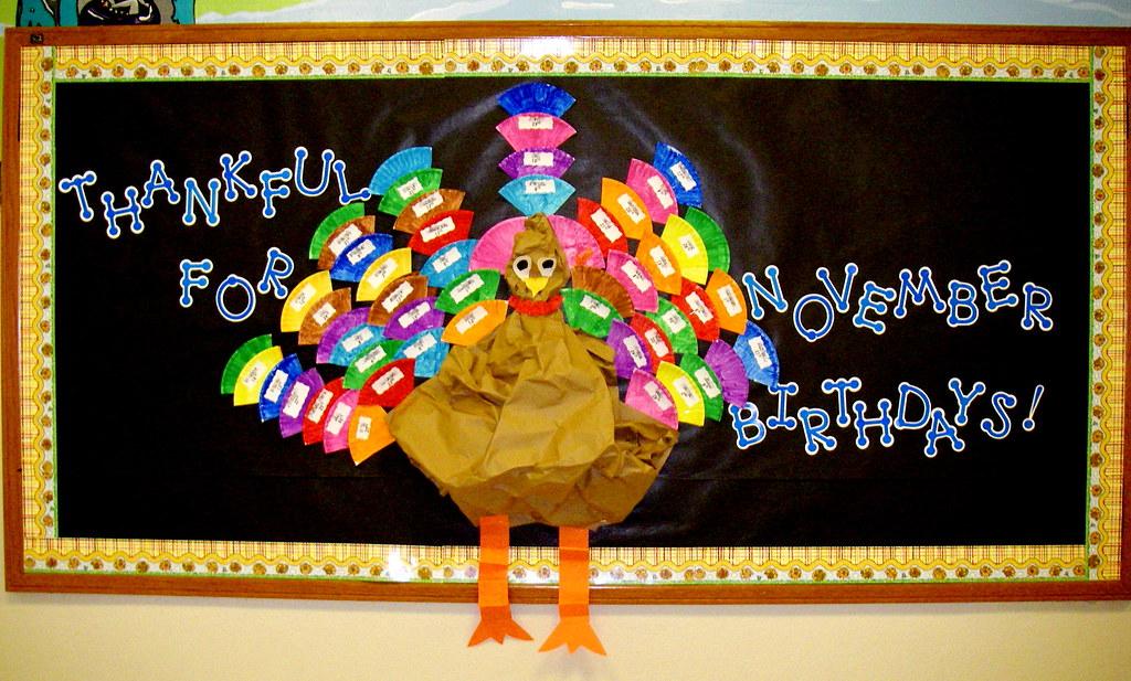 November Calendar Bulletin Board Ideas : November birthday board bulletin ideas for
