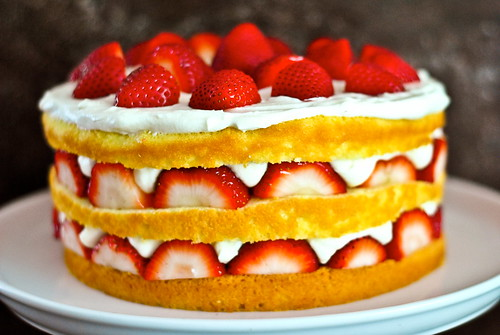 strawberry chiffon shortcake | by The Red Spoon