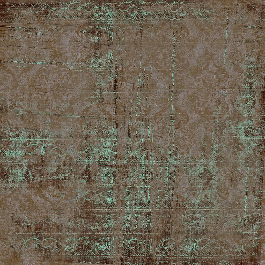 Brown vitnage floral scrapbook background paper ...