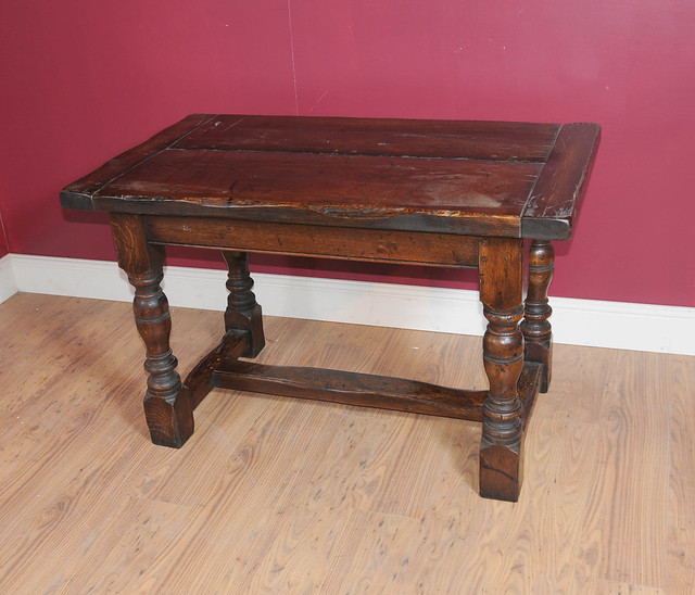 Small Oak Refectory Table Farmhouse Kitchen 1