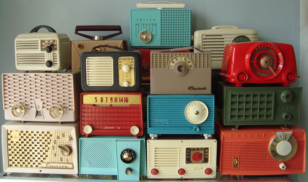 vintage radio display photo radio collection by mark mei flickr. Black Bedroom Furniture Sets. Home Design Ideas
