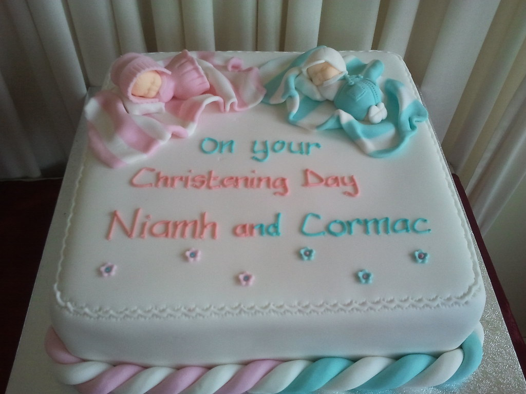 Twin Girl Baby Shower Cakes