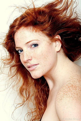 Redhead Girl With Freckles  A Redheaded Girl With -6154