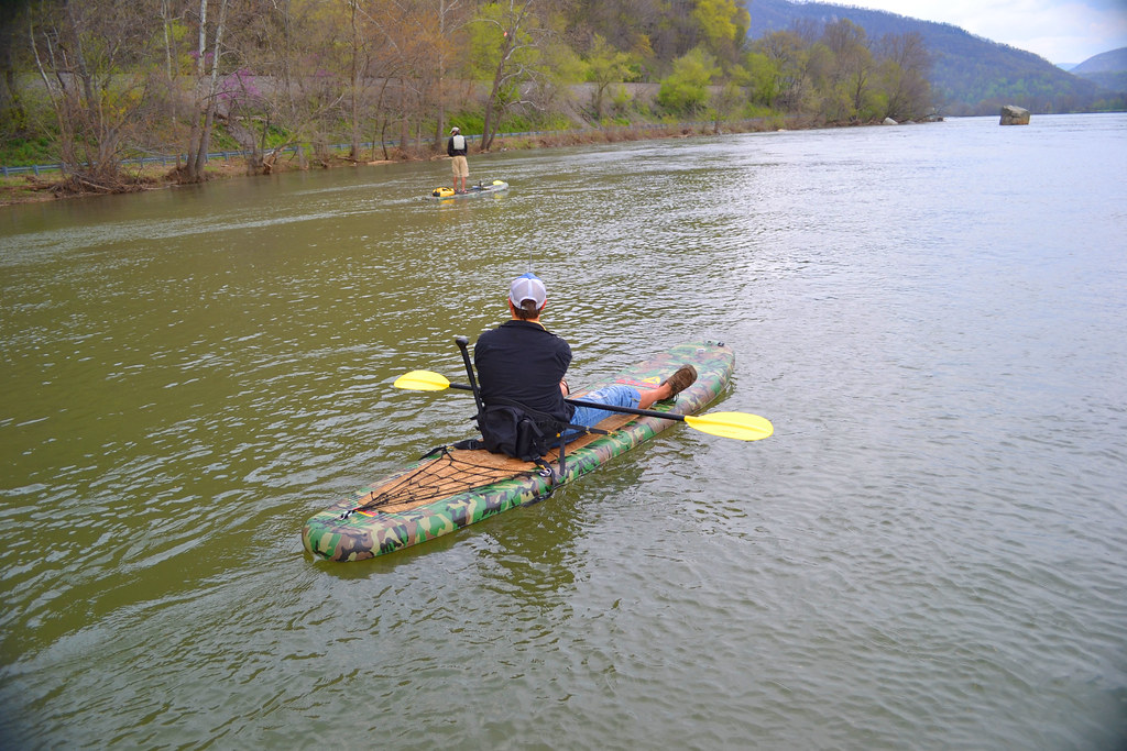 Stand up paddleboard fishing on the stride airlite bc ka for Stand up fishing kayak
