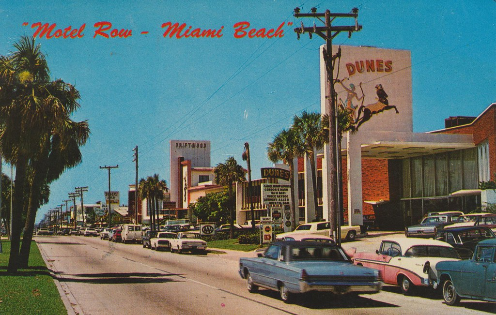 Motel Row Miami Beach Florida Some Of The Fabulous