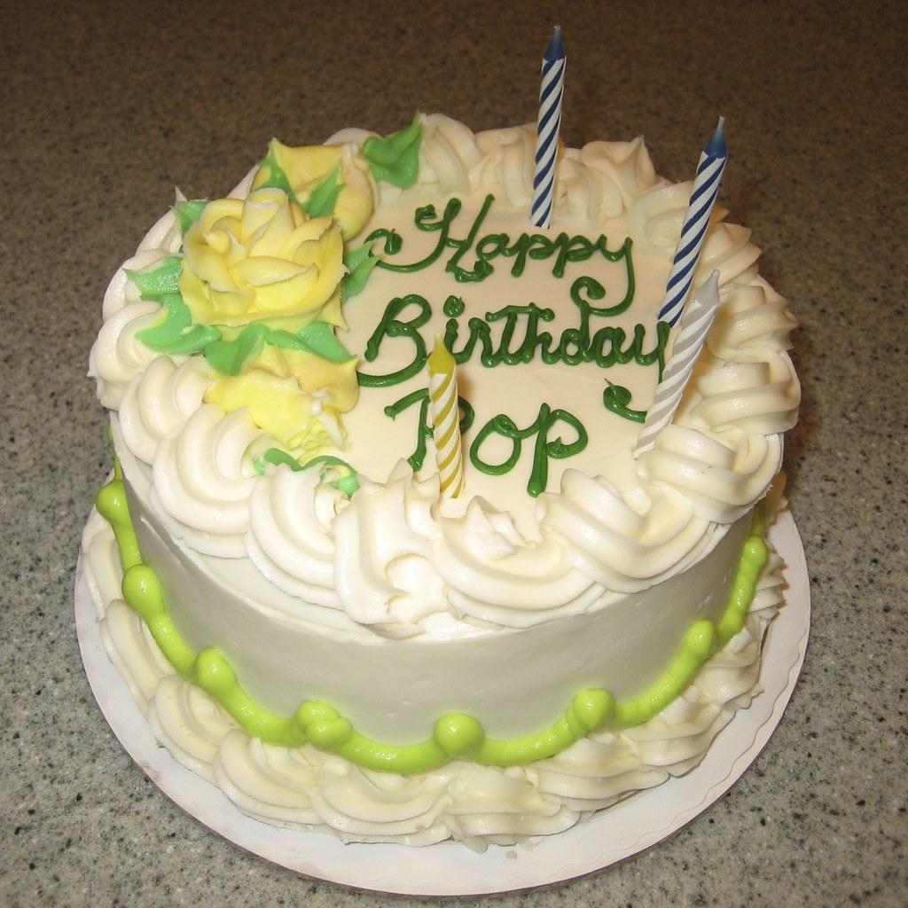 One Of Pop's Birthday Cakes! Yelow
