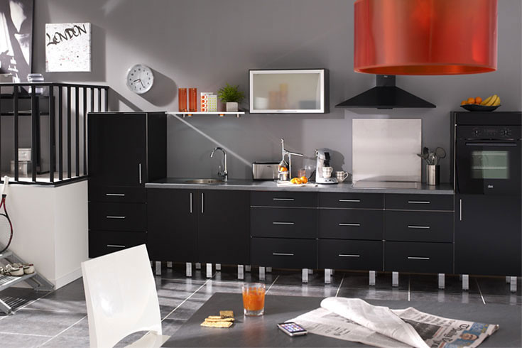 cuisine quip e noire mod le design mat nuoro la cuisine flickr. Black Bedroom Furniture Sets. Home Design Ideas