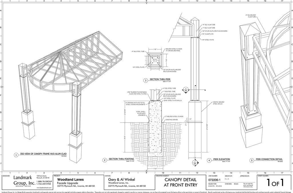 Canopy detail cad drawings for Gazebo dwg