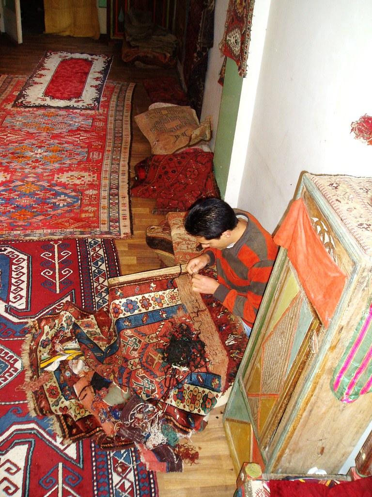 Taller de restauraci n de kilims alfombras turcas flickr - Restauracion de alfombras ...
