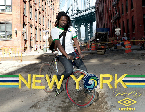 The New York Cosmos - Bike Messenger, Brooklyn | by umbrofootball