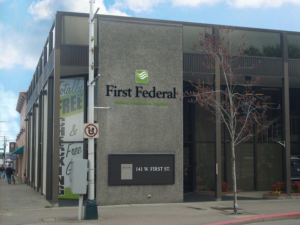 Exterior Bank Branding | Bank Building Signage | Bank Sign ...
