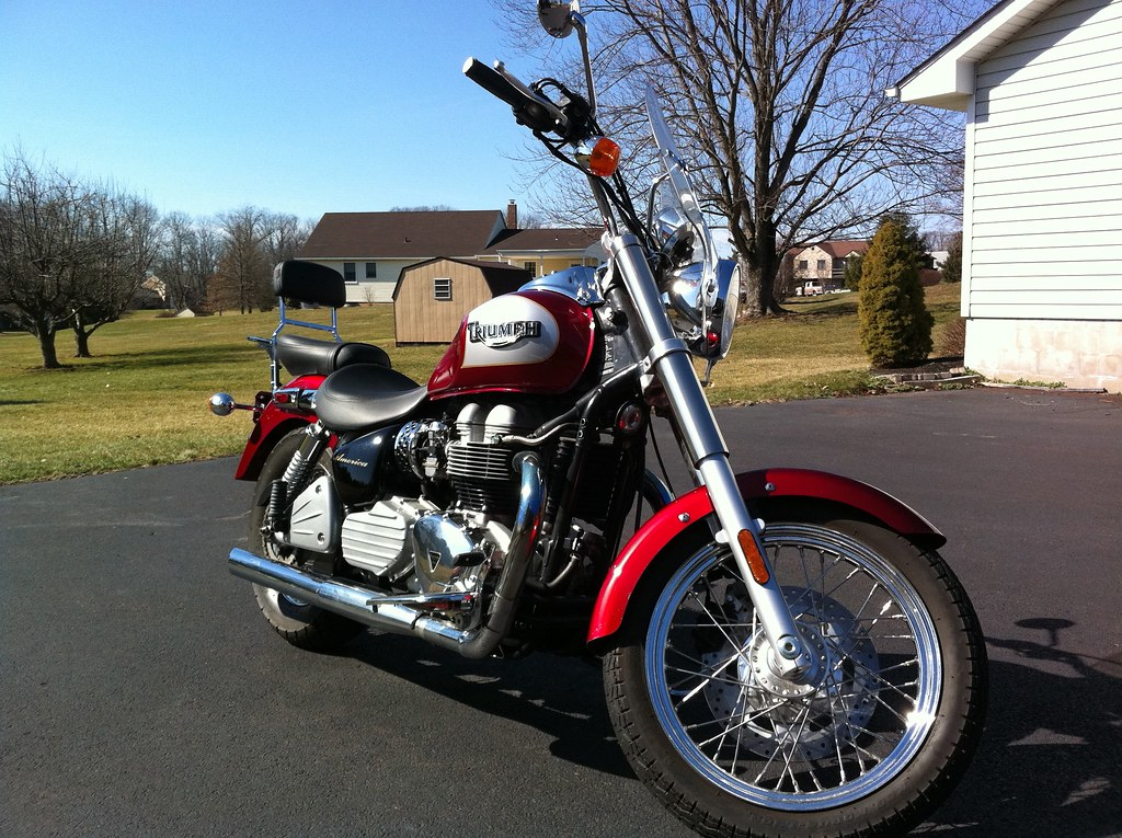 2003 Triumph Bonneville America All The Extras On Foot Bo Flickr