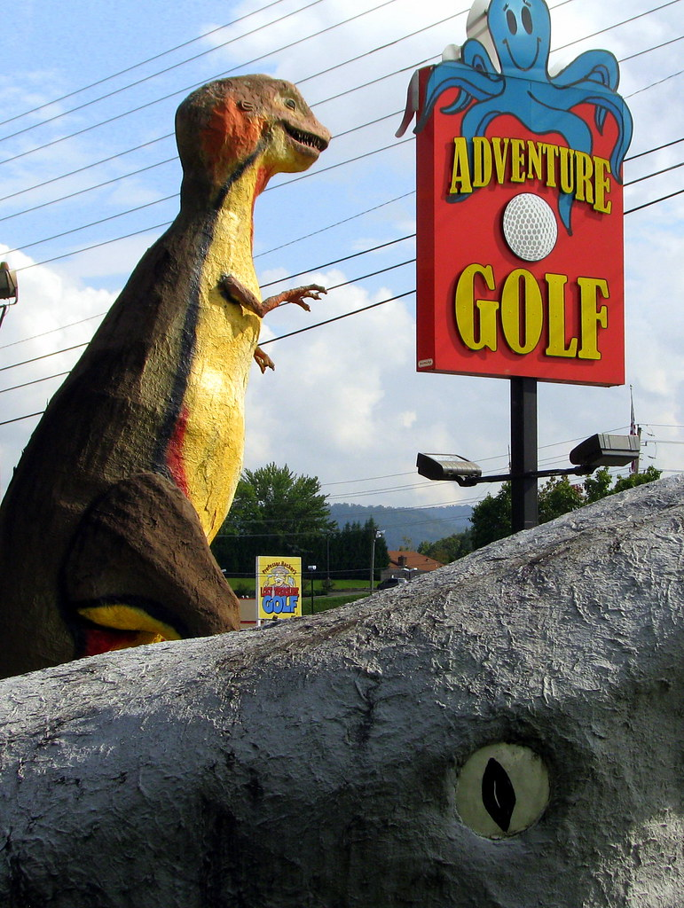 Adventure Golf Sign With T Rex And Jaws Quot Big Jim