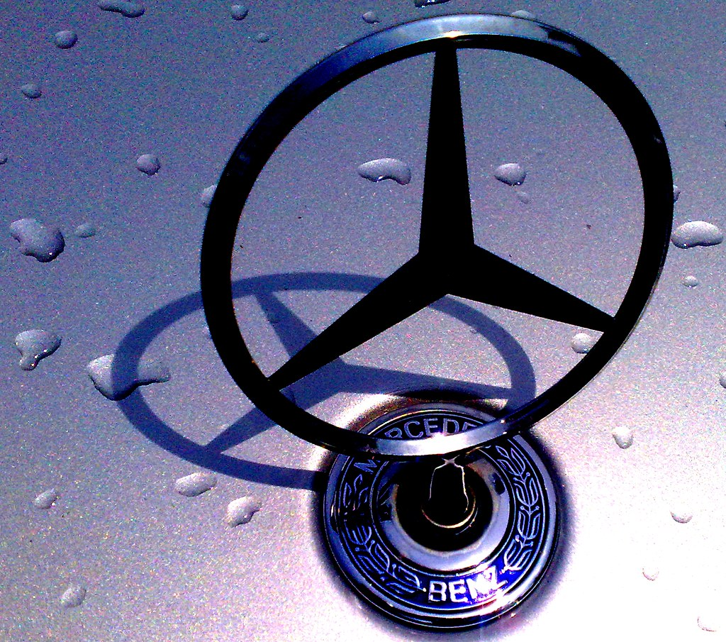 Mercedes Benz Logo >> Mercedes Stern mit Schatten-spiel, Automarke, logo,Vehicle… | Flickr