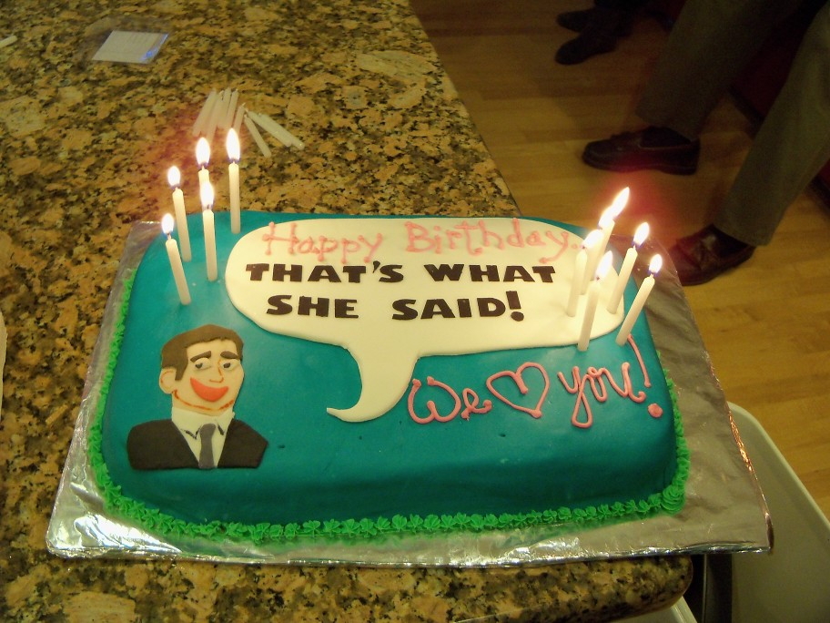 The Office Birthday Cake With Michael Scott For My Beautif Flickr