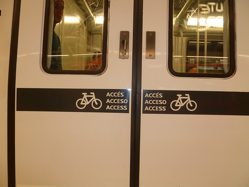 Bike-friendly signage on Barcelona Train | by Mikael Colville-Andersen
