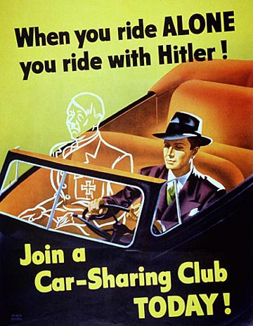 Jei važiuoji vienas - važiuoji su Hitleriu :D