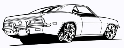 camaro line art 2 hand drawn and inked  scanned high free line clip art images free line clipart for churches