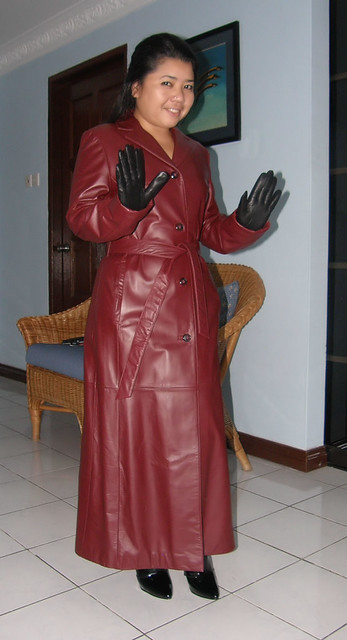 Burgundy Long Leather Trench Coat Flickr Photo Sharing