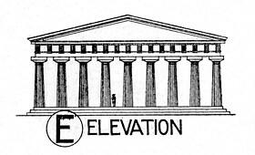paestum temple of hera i reconstruction elevation flickr
