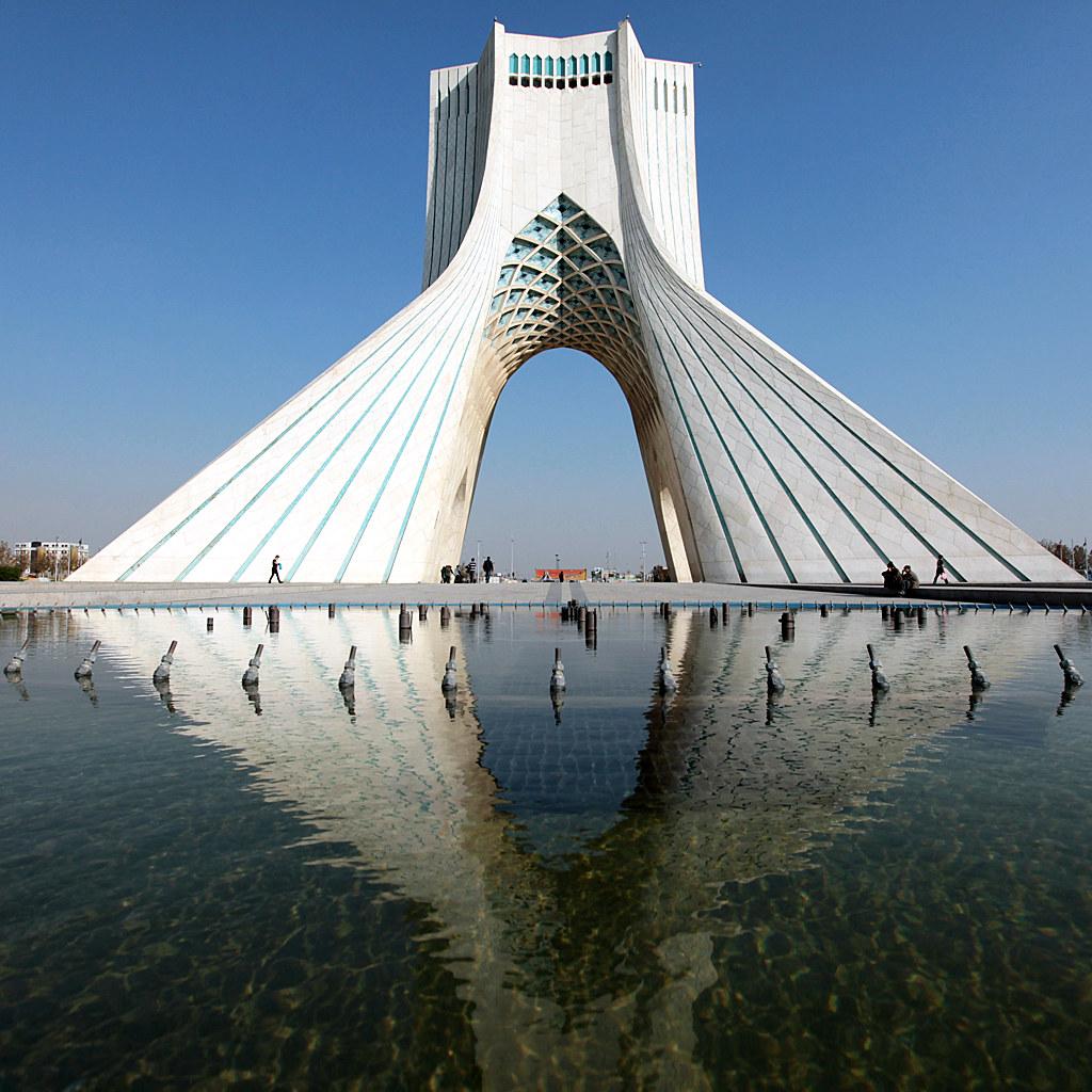 Azadi Tower In Tehran Iran The Azadi Tower Persian