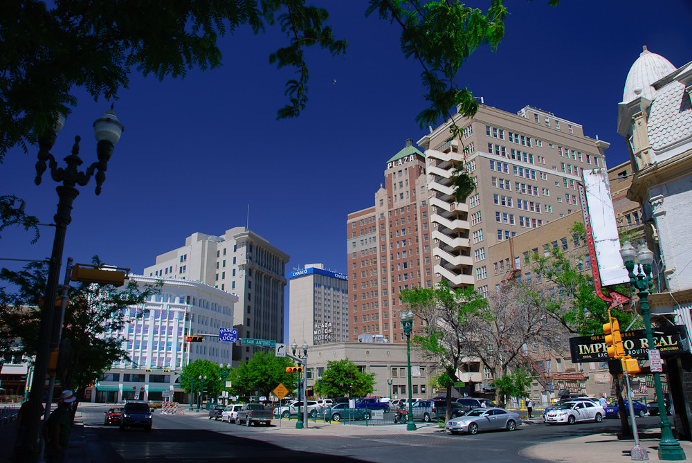 About >> El Paso's Pioneer Plaza | Historic buildings visible in ...