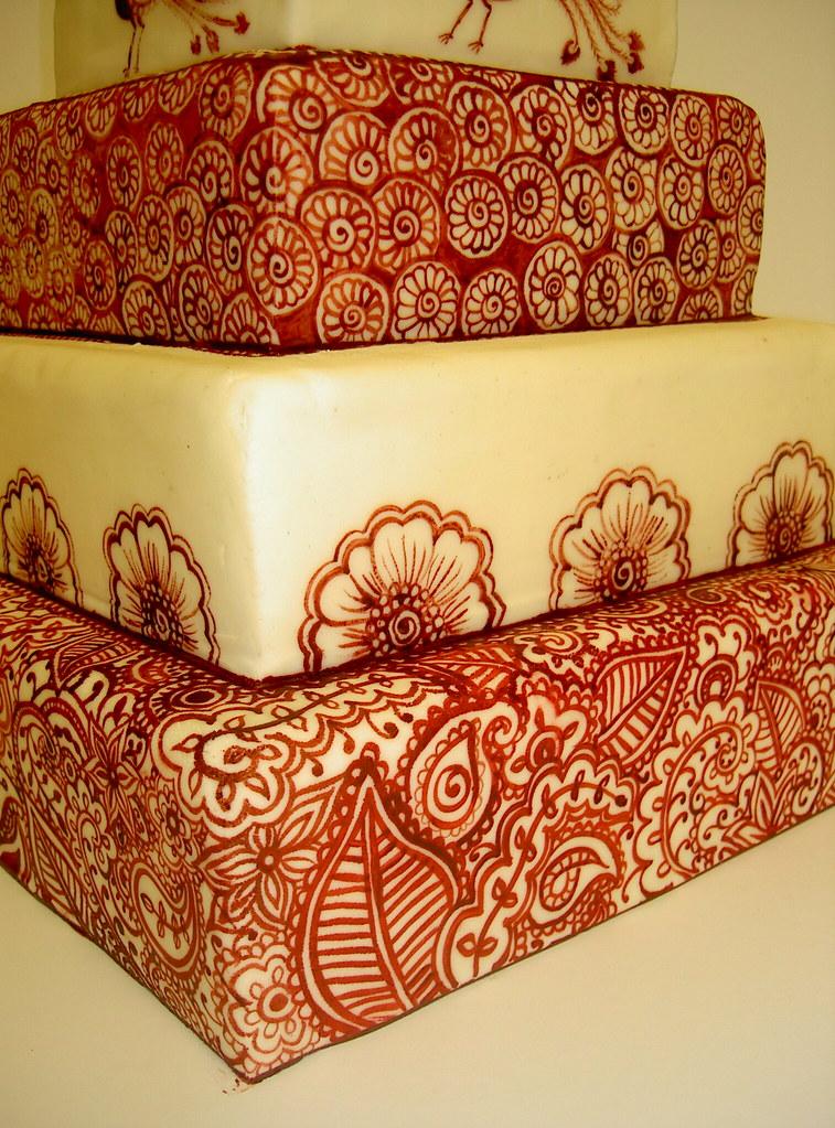 Mehndi Cake Uk : Henna tattoo inspired wedding cake cakes u