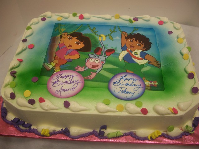 Dora and Diego sheet cake | Flickr - Photo Sharing!