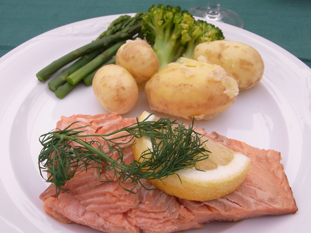Salmon With Asparagus Sauce Recipe Food And Wine Recipes