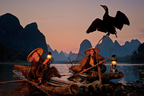 Cormorant Fishermen at Dusk ~ Guilin ~ China ~ Photography ~ Nikon ~Landscape | by Dan Ballard Photography