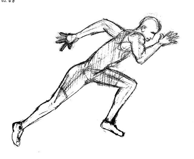 Running Shoe Vector Graphic
