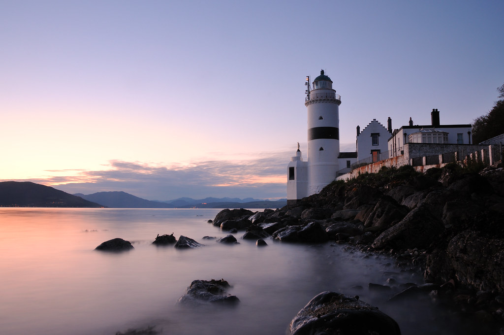 Gloaming At The Cloch Lighthouse Gourock The Cloch