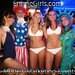 EmmeGirls Models Marketing Events at the Georgetown Waterfront DC 4th of July Red White Blue Beach Bash
