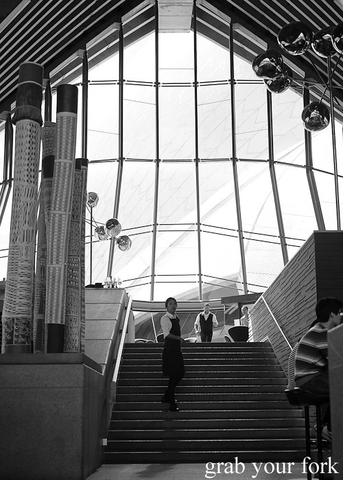 View of the Sydney Opera House sails from within Bennelong Restaurant Sydney