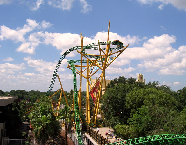 Busch Gardens Skyride View Of Cheetah Hunt Figure