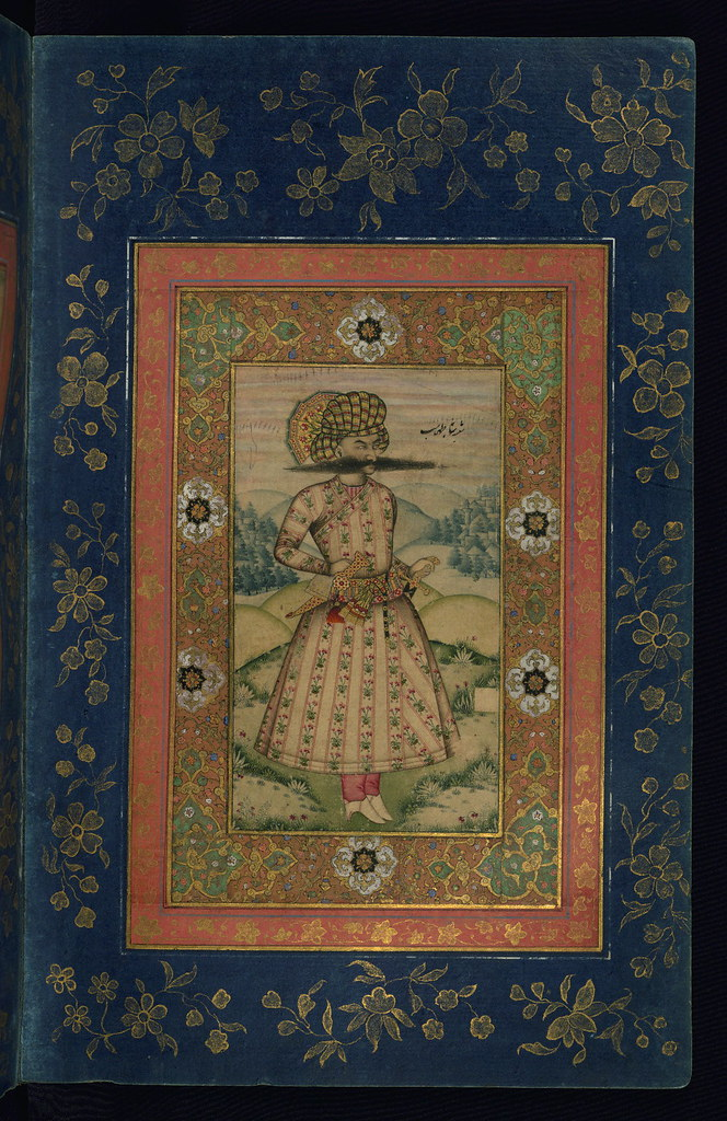 Album of Persian and Indian calligraphy and paintings, Por ...