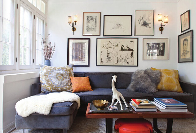 House of Honey {eclectic mid-century vintage modern living room ...